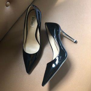 BADGLEY MISCHKA patent leather pumps heels glam
